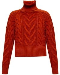 Dolce & Gabbana Knitted Turtleneck Sweater - Brown