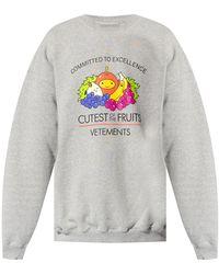 Vetements Printed Sweatshirt - Grey