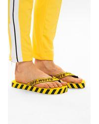 Off-White c/o Virgil Abloh Platform Flip-flops Yellow