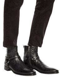 John Varvatos 'harness' Ankle Boots Black