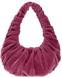 Nanushka 'anja Baguette' Handbag Purple
