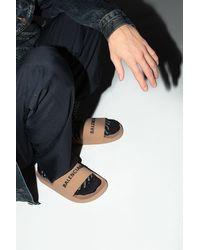 Balenciaga Slides With Logo - Brown