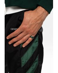 Off-White c/o Virgil Abloh Ring With Logo Green
