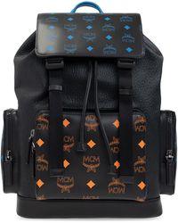 MCM Backpack With Logo Black