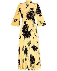 Samsøe & Samsøe Floral Motif Dress - Yellow