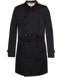 Burberry The Mid-length Chelsea Heritage Trench Coat - Black