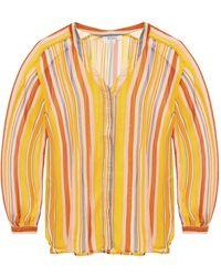 AllSaints 'adra' Striped Shirt Multicolor - Orange