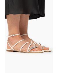 Jimmy Choo 'maesie' Flat Sandals - White