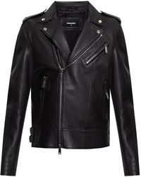 DSquared² Leather Jacket - Black