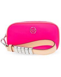 Philipp Plein Hand Bag With Logo - Pink