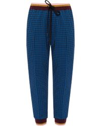 Marni - Checked Joggers - Lyst