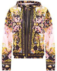Versace Jeans Couture Baroque Motif Jacket Pink