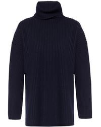921c18d7d Acne Studios Ribbed Turtleneck Sweater red in Red - Lyst