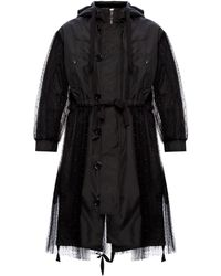 RED Valentino Tulle-trimmed Jacket Black
