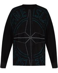 Stone Island Sweater With Logo - Black
