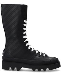 Givenchy 'clapham' Leather Boots Black
