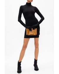 Vetements Dress With Gloves Black