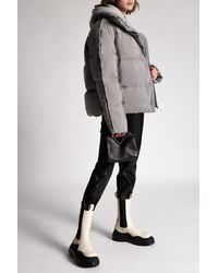 Acne Studios Printed Down Jacket Gray