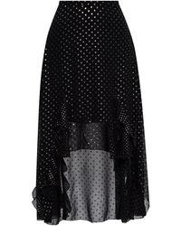 AllSaints 'ilia' Asymmetrical Skirt Black