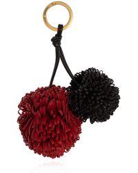 Bottega Veneta Leather Keyring Red
