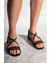 Fendi Sandals With Logo Black