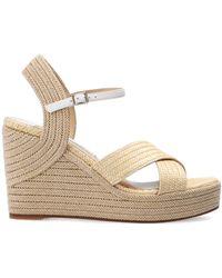 Jimmy Choo 'dellena' Wedge Sandals Beige - Natural