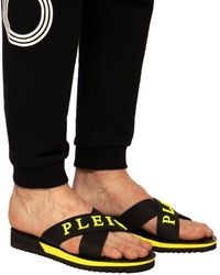 Philipp Plein Logo Slides Black
