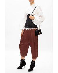 Balmain High-waisted Trousers Brown