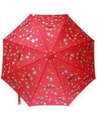 Moschino Printed Umbrella Unisex Red