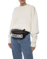 Moschino Branded Belt Bag - Black