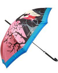 Moschino Printed Umbrella - Pink