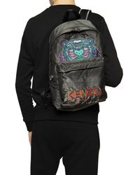 KENZO Tiger Embroidered Logo Backpack - Grey