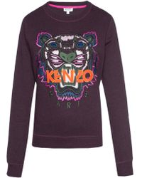 KENZO Sweatshirt With Tiger's Head - Multicolour