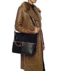 See By Chloé Emy Suede And Leather Cross-body Bag - Black