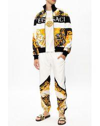 Versace Patterned Sweatshirt Multicolor - White