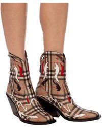Burberry Matlock Cowboy Boots - Brown