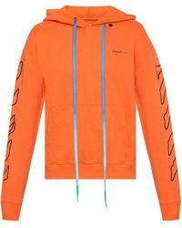 Off-White c/o Virgil Abloh Abstract Arrow Logo Hoodie - Orange