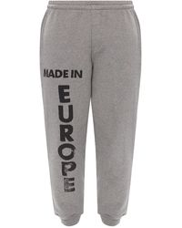 Vetements Joggers With Logo Grey