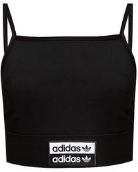 adidas Originals Sports Top With Logo Black