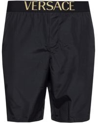 Versace Logo Swim Shorts - Black