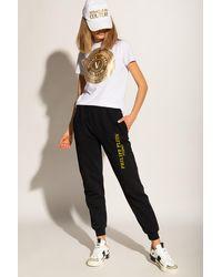 Philipp Plein Printed Sweatpants Black