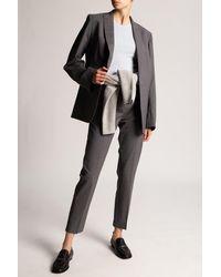 Totême Pleat-front Trousers - Grey