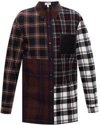 Loewe Checked Shirt - Black