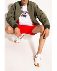 COACH Shorts With Logo - Red
