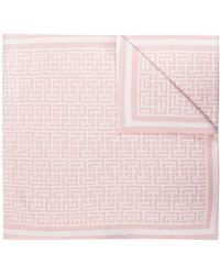 Balmain Scarf With Logo - Pink
