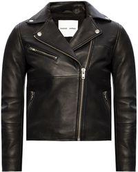 Samsøe & Samsøe Leather Jacket - Black