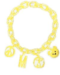 Moschino Chain Necklace - Yellow