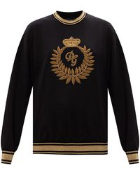 Dolce & Gabbana Sweatshirt With Logo - Black