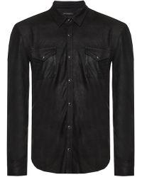 John Varvatos Shirt With Pockets - Gray