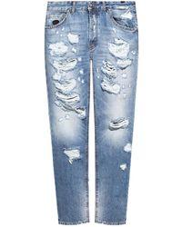 John Richmond Raw-edge Jeans Blue